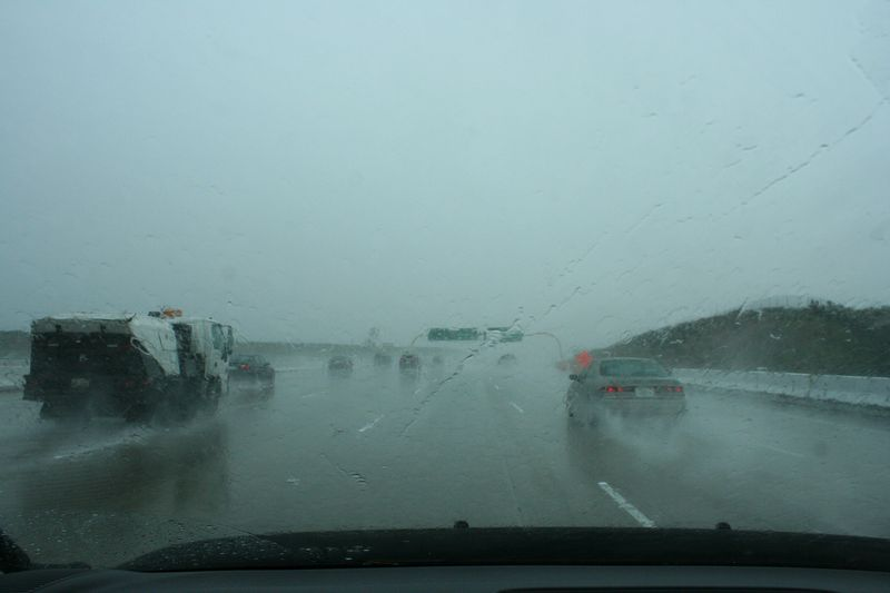 January Rains Pelt California Freeway